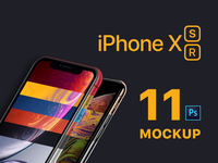 """New 2018 iPhones Mockup """"iPhone XS and iPhone XR"""""""