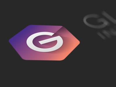The G Logo logo g gradient hexagon dark beautiful shadow perspective