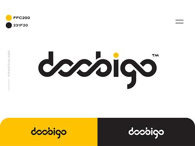Doobigo Logo typography branding clean d logotype loop design wordmark logo doobigo