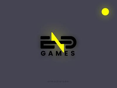 End Games Logo 3d minimal light games glow glowing yellow gaminglogo logo gaming