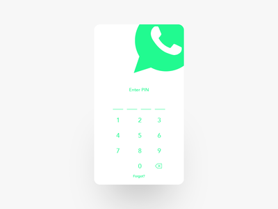 Whatsapp Redesign Project Screen #1 messaging ios android mobile app pin clean white ux ui minimal whatsapp