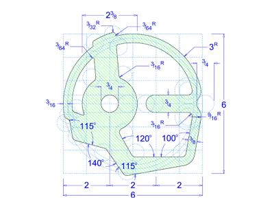 CAD Logo w/ Dimensions