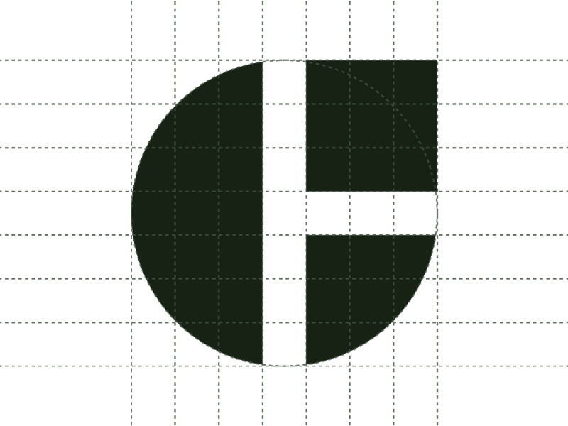 Gregory Hayter Logo dark green 7x7 logo dimensions grid gregory hayter