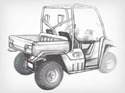 Utility Vehicle Sketch utv industrial design sketch