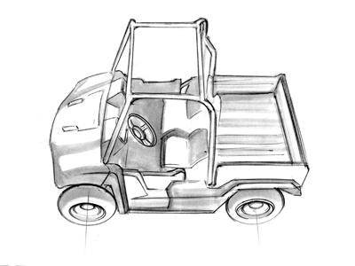Scoot industrial design sketch