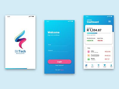 BitTech Money App adobe xd app design ui ux