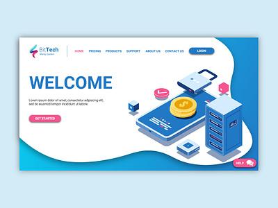 BitTech Concept Landing Page design branding adobe layout website webdesign ux. ui
