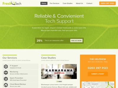 Fresh tech website