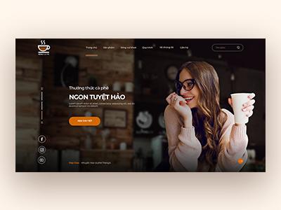 Coffee shop Landing page web ui landing page