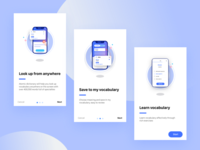 Dictionary Onboarding Screens
