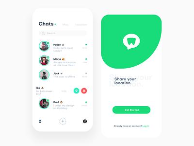 Whereare Messenger friends log in map chat patshop patstudio message location