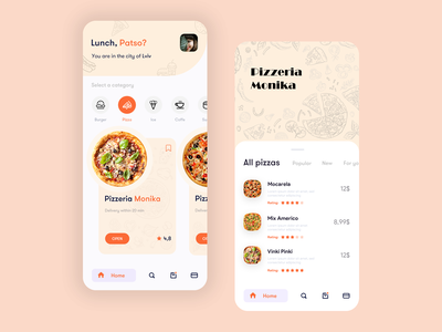 PatFood patstudio menu saved price search card burgers pizzeria rating kitchen cook eat category delivery food