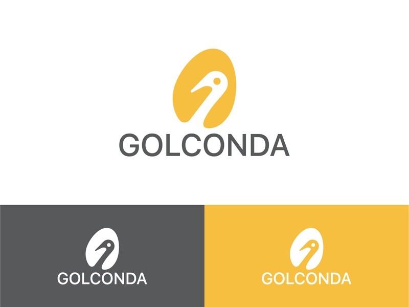 Golconda elegant art negative space logo branding flat vector minimal logo simple design logo illustration design