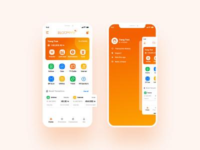 eWallet Home Screen money mobile app ewallet nigeria