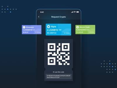 Request Ctypto crypto wallet address qrcode cryptocurrency request crypto