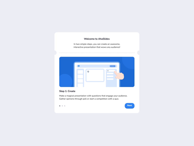 Onboarding pop-up audience presenter welcome onboarding cute hand interactive presentation motion graphics graphic design animation ui