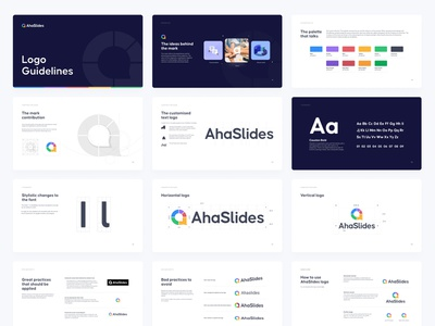 Logo Guidelines communication people presentation icon mark style guide brand book guidelines branding logo