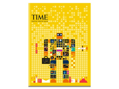Time Magazine, Davos Issue technology graphicdesign illustration