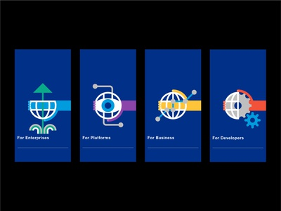 Brand icons for PayPal Business graphicdesign branding illustration
