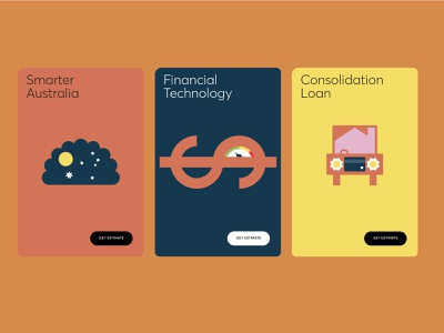 Wisr web cards advertising campaign vector web illustration branding graphic design