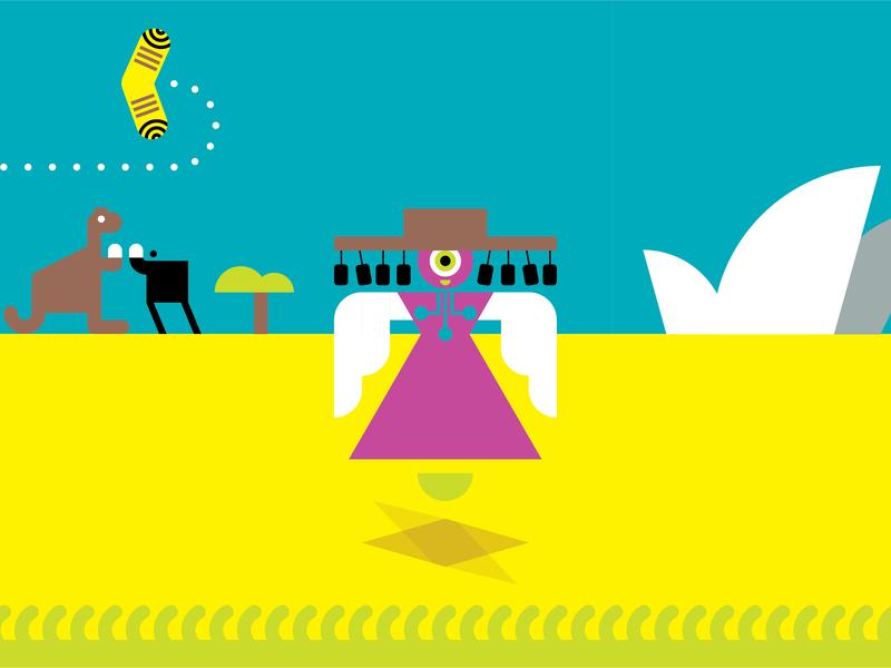 Fiona's Travels-Australia branding illustration infographics