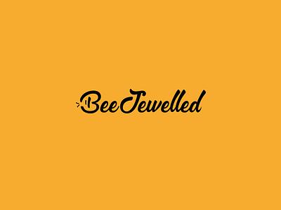 Beejewelled Logo wordmark logotype. typography logo lettering identity branding