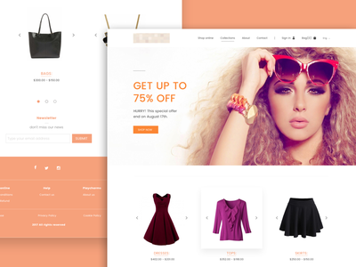 E-commerce Landing Page website page landing ui design