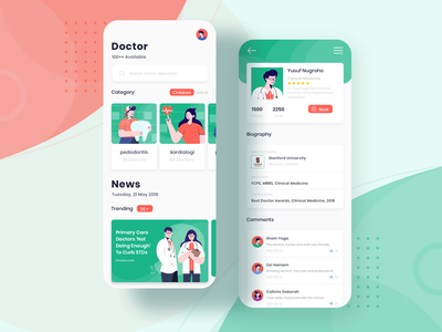 Medical App flat illustrations icon typography vector medical app medical illustration mobile app design mobile app mobile ui app mobile ux ui design