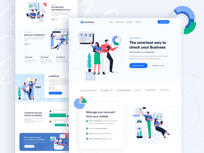 Babol - Start up Website E-Commerce Illustration homepage vector illustrations flat page landing website design ui illustration