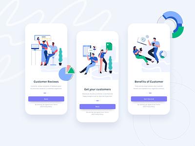 Babol - Start up Website E-Commerce Illustration mobile app mobile app design ux illustrations ui vector flat illustration