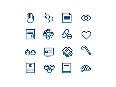 Health Icon Set molecule medicine pills health vector line webdesign icon design icon