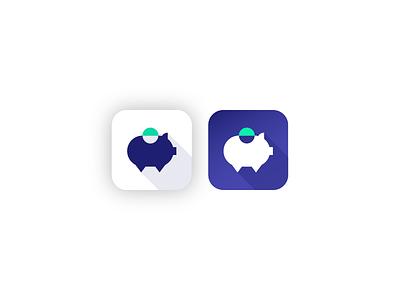 Pig Spender - Logo piggy bank pig collaboration savings app mobile logotype logo