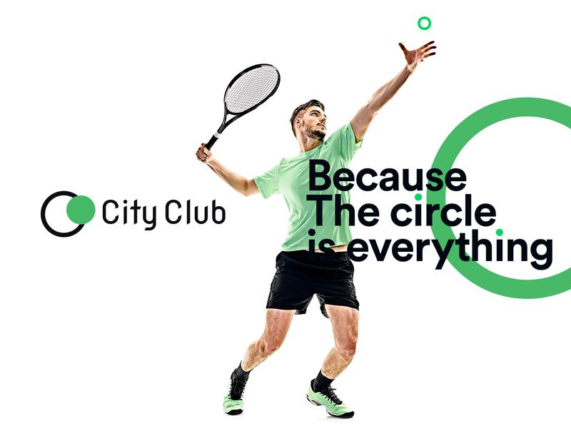 City Club green tennis sport sports logo design creative cityclub club city