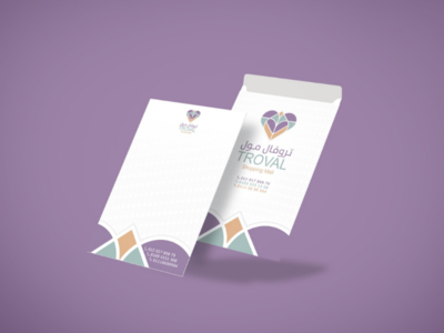 TROVAL Mall mall identity envelope a4 design troval mall troval