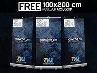 Free 100x200 Roll-up Mockup
