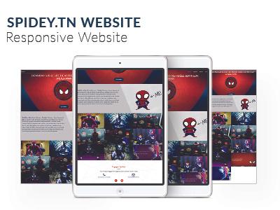 Spidey Website jquery css html illustrator photoshop developpement front-end design ux ui