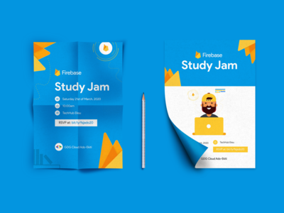 Firebase Study Jam Poster Design