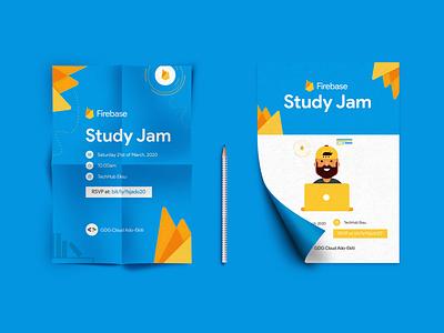 Firebase Study Jam Poster Design branding design