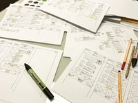 Wireframing for catering website
