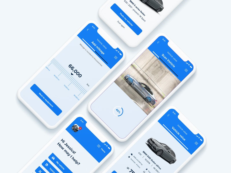 Vehicle sale application minimalism minimalistic mileage sales ios search scan augmented reality ar argumented reality vehicle car iphone xs design app ux-ui