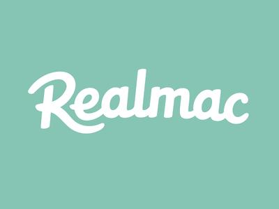 Realmac Logo (final) realmac hand drawn typography logotype type logo