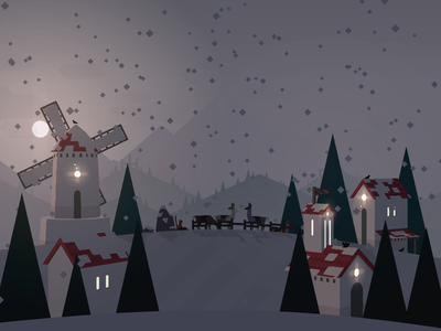 Season's greetings from Alto's Adventure seasons greetings winter christmas snow ios game indie snowboard llamas windmill