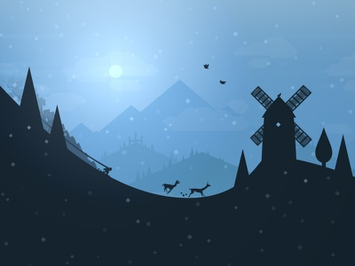 Alto on Android windmill mountain snow mobile game ios llamas snowboarding google play android alto altos adventure