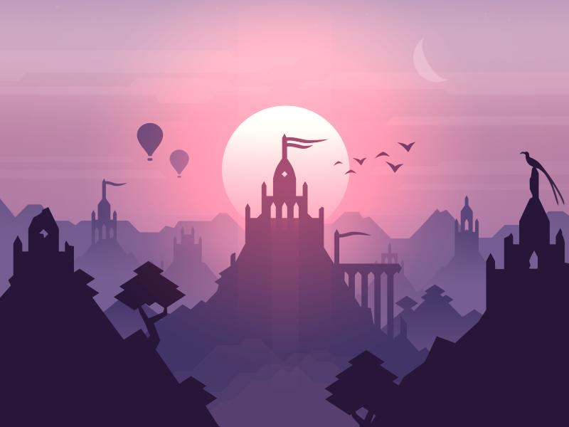 The next adventure awaits hot air balloon bird trees temple sunrise sunset game odyssey adventure alto altos adventure