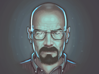 Walter White walter white breaking bad bryan cranston portrait painting fan art