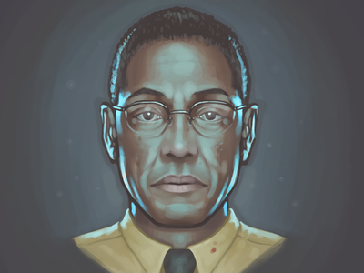 Gustavo Fring fan art painting portrait giancarlo esposito breaking bad gustavo fring los pollos hermanos