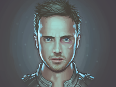 Jesse Pinkman fan art painting portrait aaron paul breaking bad jesse pinkman