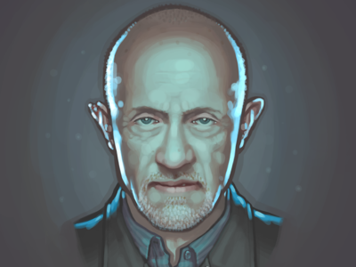 Mike Ehrmantraut fan art painting portrait jonathan banks breaking bad mike ehrmantraut