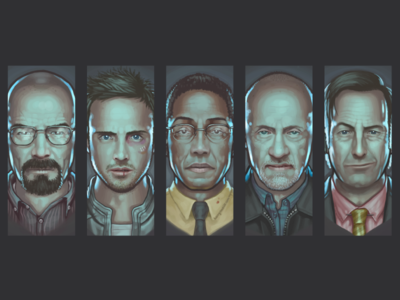 Breaking Bad - Wallpaper 2 breaking bad portraits paintings digital wallpaper