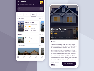 Home Booking iphone ios homepage design 2021 house booking flatdesign hotel booking booking app booking hotels flat uiux design apple ux ui design home screen hotel villa house home